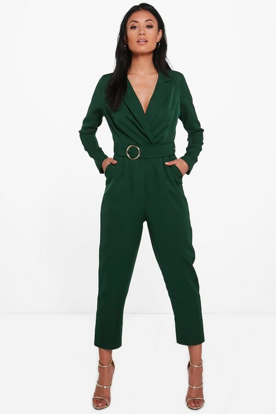Sophie Premium Tailored O-Ring Belted Jumpsuit