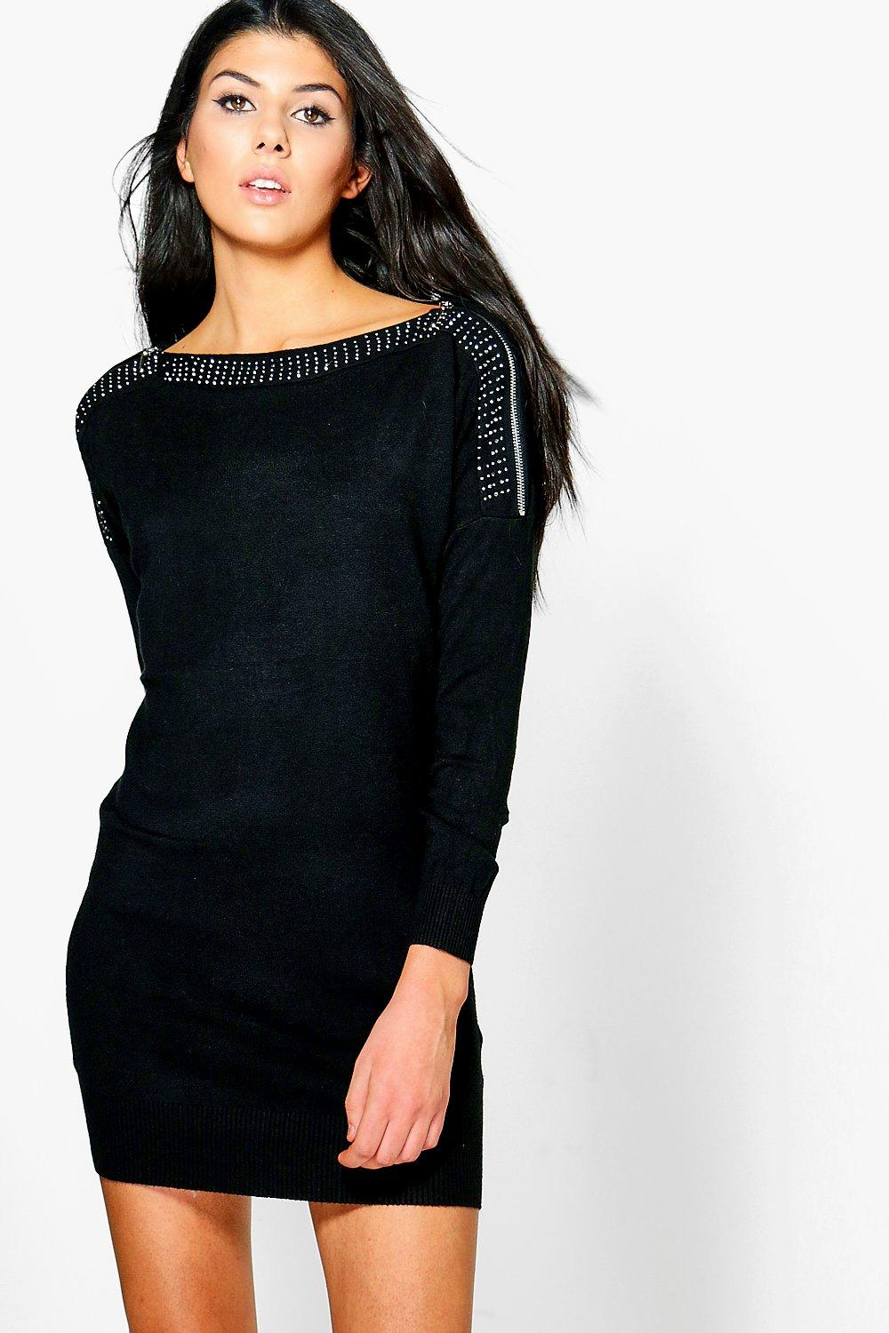 Lydia Studded Detail Jumper Dress