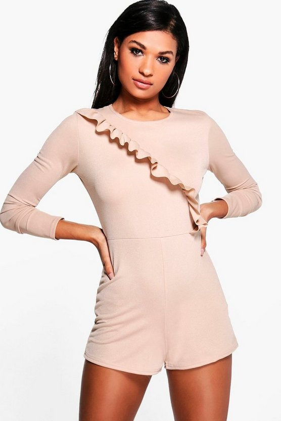 Rani Ruffle Long Sleeve Playsuit