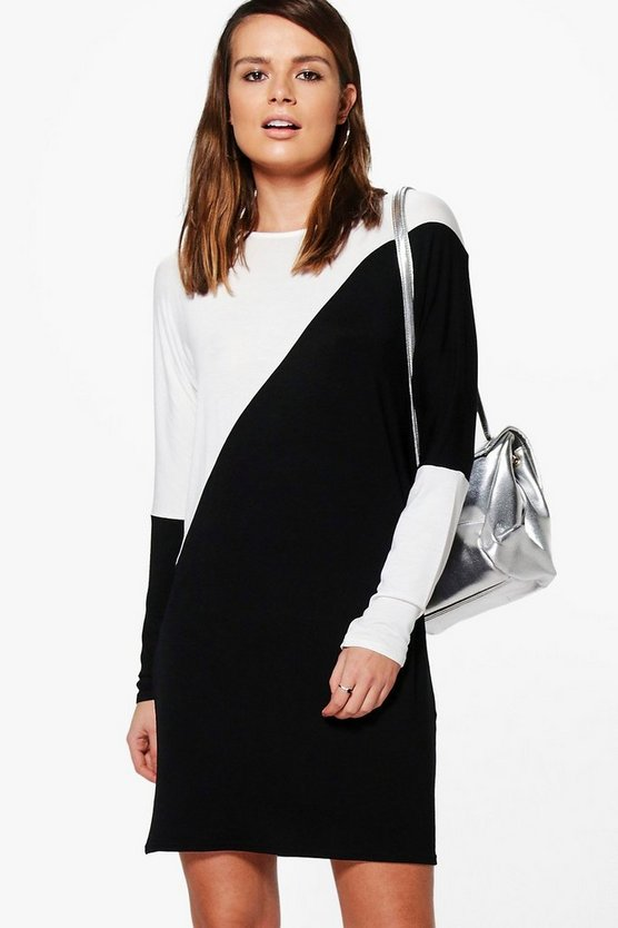 Lola Monochrome Colour Block Shift Dress