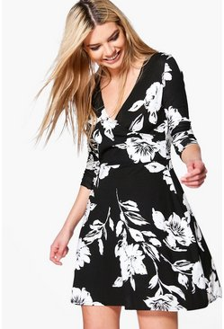Elizabella Floral Wrap Dress