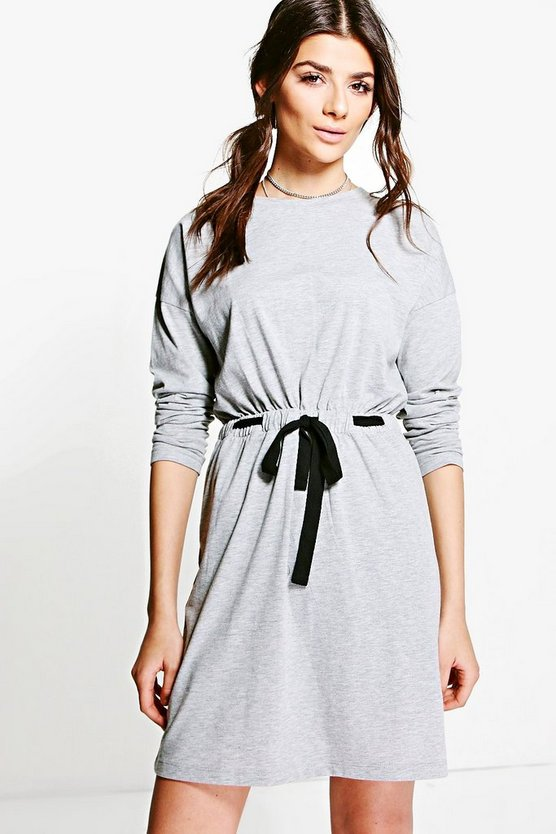 Casey Draw Cord Detail T-Shirt Dress