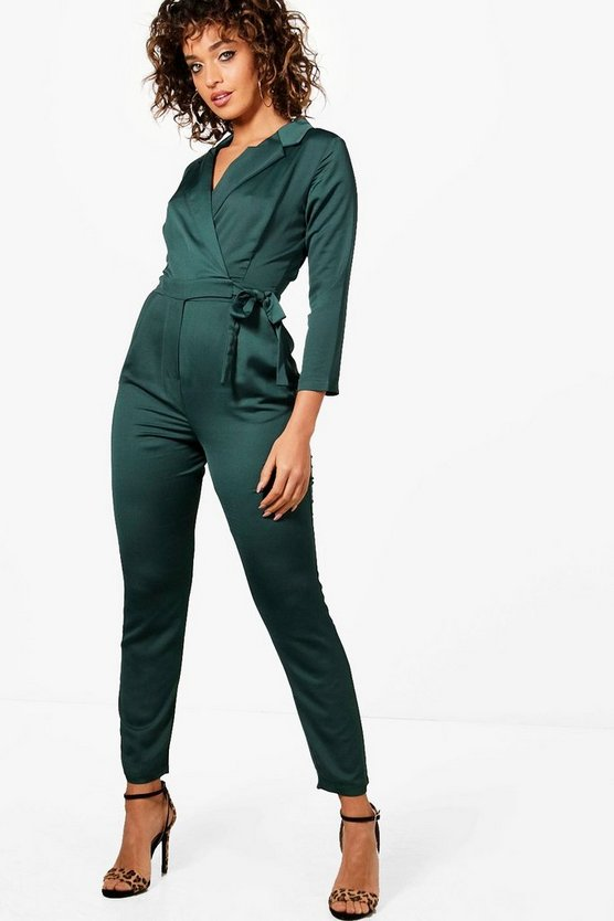 Rebecca Premium Satin Tailored Jumpsuit