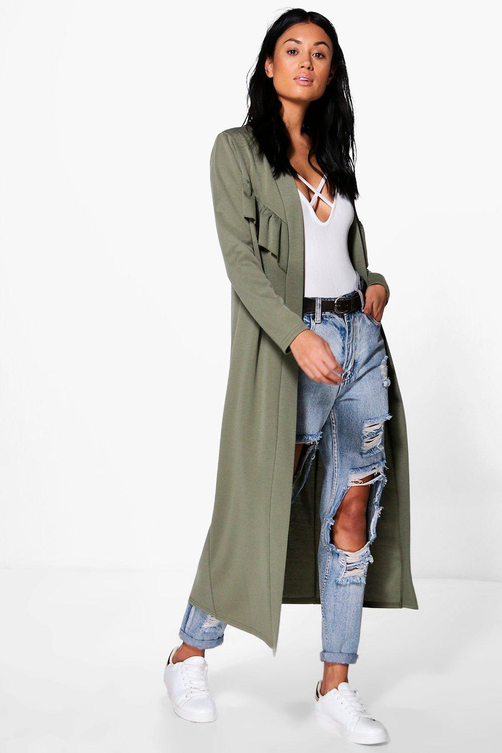 Sarah Frill Detail Longline Duster