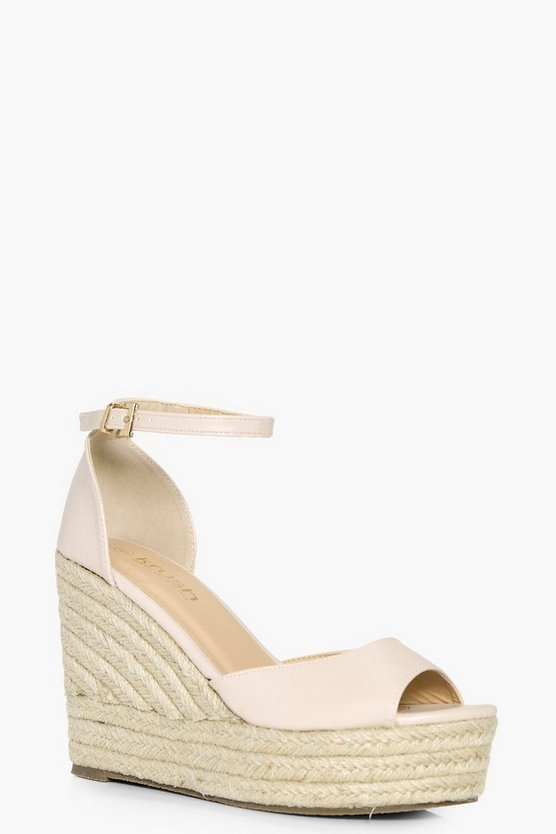 Laura Peeptoe Espadrille Wedge