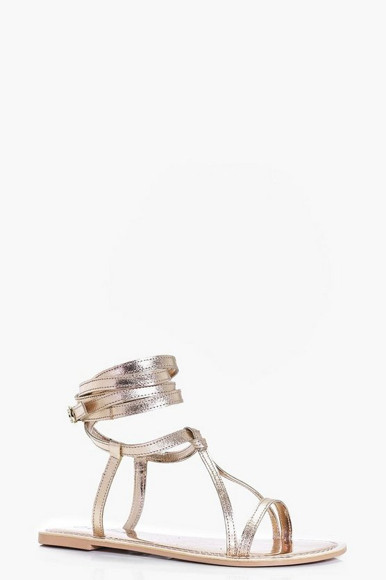 Matilda Wrap Strap Leather Sandal