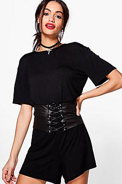 Joana Corset Detail Swing Playsuit