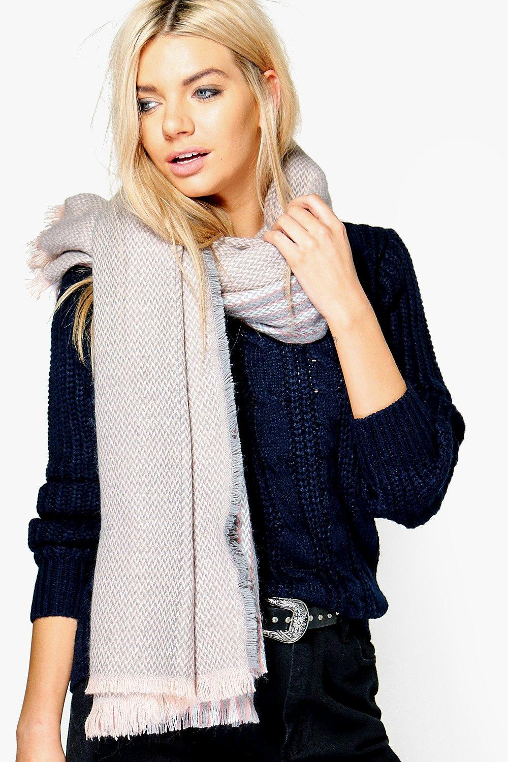Lucie Stripe Supersoft Blanket Scarf