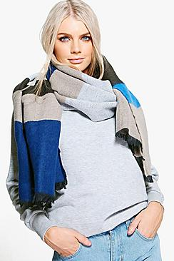 Connie Colourblock Stripe Blanket Scarf