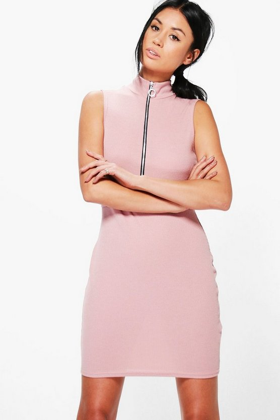 Morgan O Ring High Neck Bodycon Dress