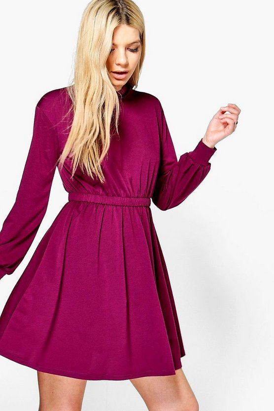 Neveah High Neck Skater Dress