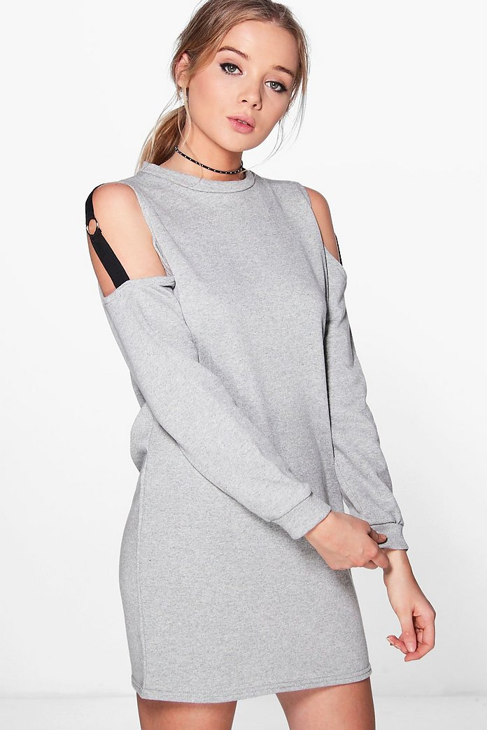Olivia O Ring Cold Shoulder Sweat Dress