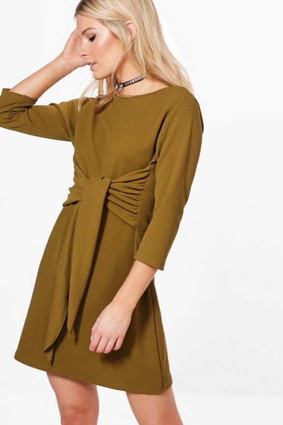 Sahara Tie Front Shift Dress