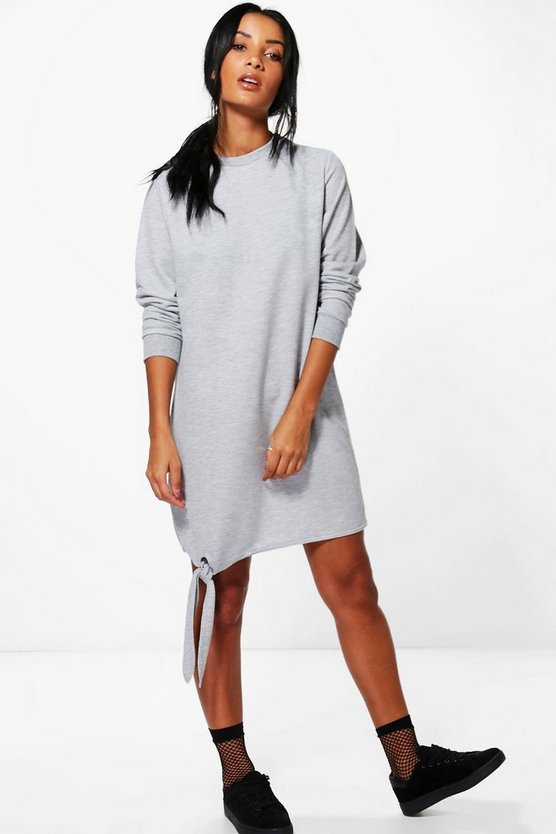 Sinead Tie Front Sweat Dress