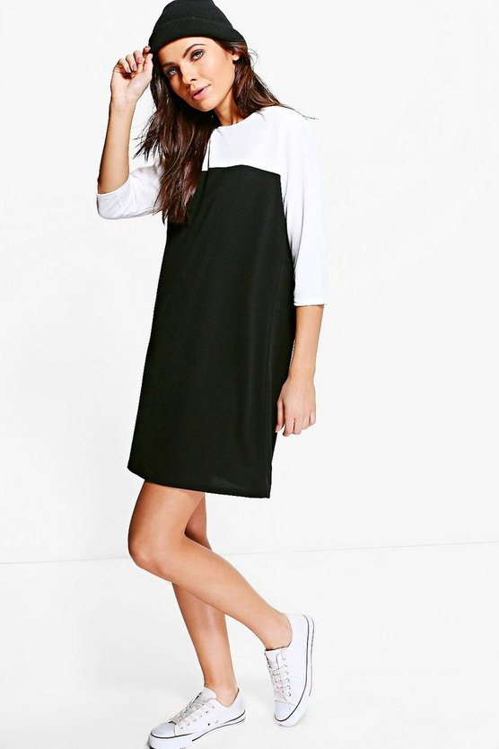 Sophia Mono T-Shirt Shift Dress