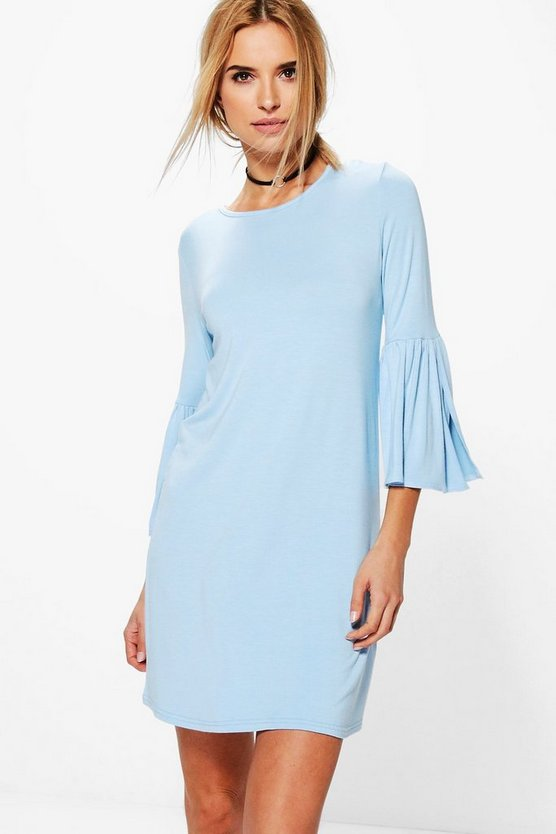 Stacey Split Bell Sleeve Shift Dress