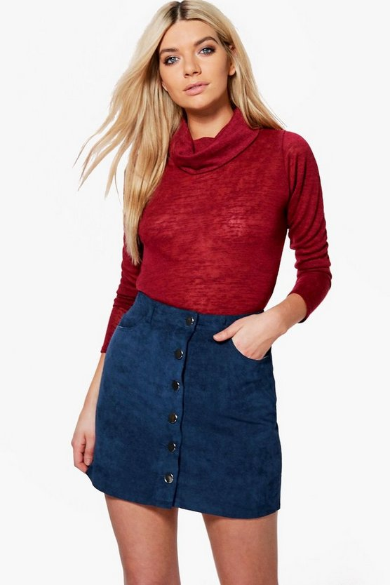 Aurora Slub Roll Neck Top