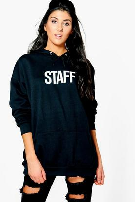 Stephanie Staff Slogan Hoody