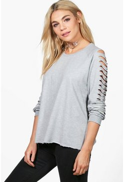Sophie Slash Sleeve Sweat Shirt