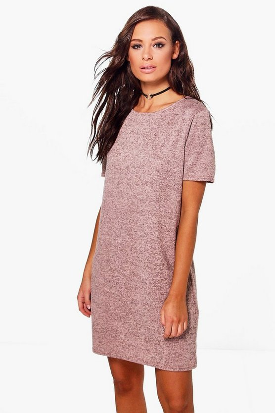 Katie Brushed Knit T-Shirt Dress