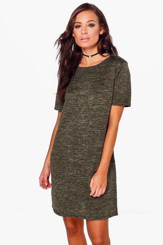 Petite Katie Brushed Knit T-Shirt Dress