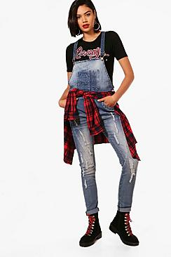 Ruth Distressed Skinny Dungarees