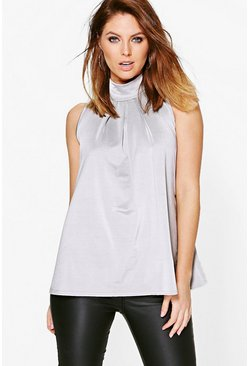 Brooke Slinky High Neck Top