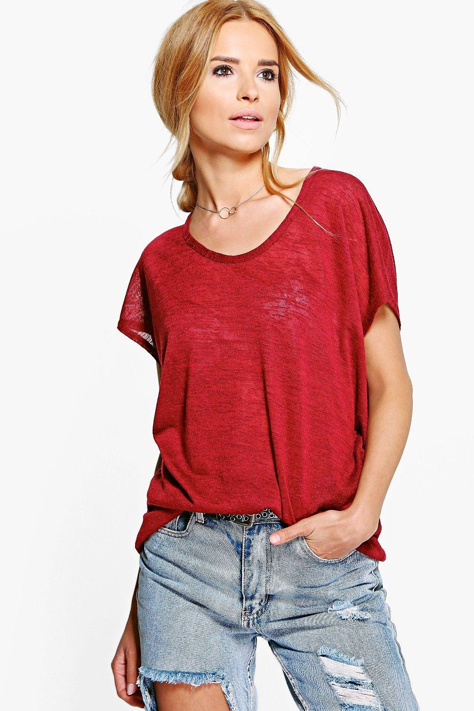 Boohoo womens sara slub oversized t shirt ebay for What is a slub shirt