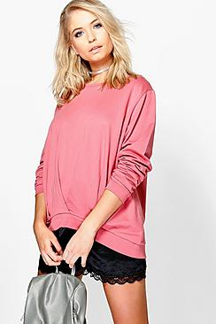 Lila Chunky Pleated Front Sweatshirt