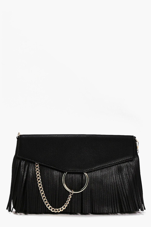 Lillie Circle & Fringed Cross Body Bag