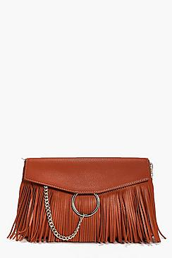 Lillie Circle & Fringed Cross Body Bag