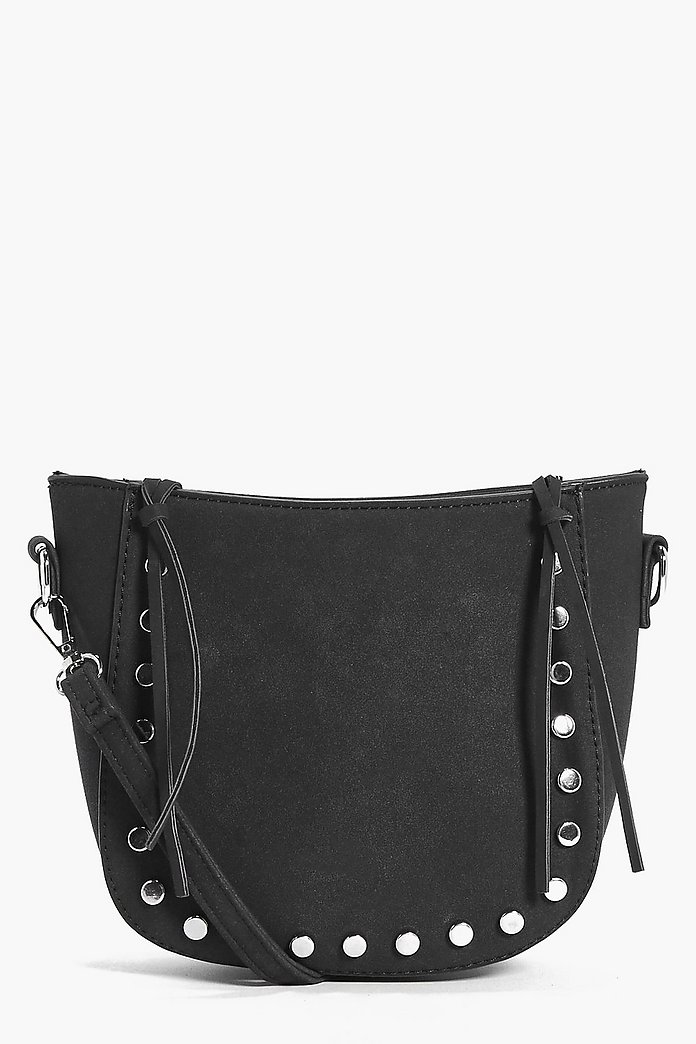 Nancy Whipstitch & Stud Cross Body Bag