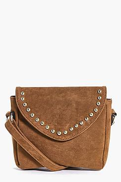 Amy Suedette Studded Cross Body Bag