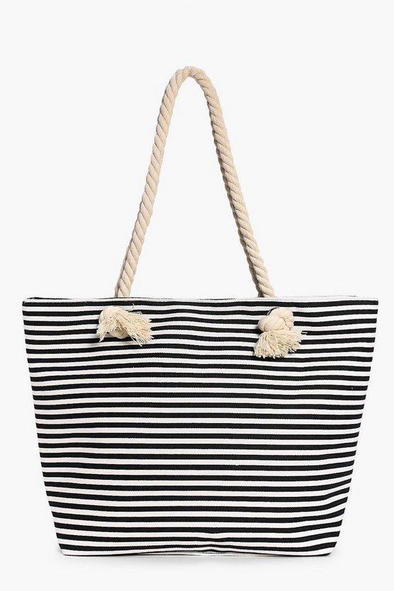 Esther Rope Print Beach Bag