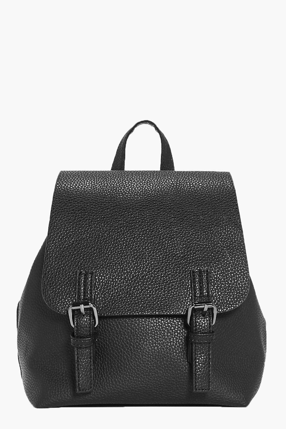 Double Buckle Rucksack - black - Elena Double Buck