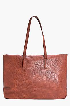 Lucia Zip Detail Oversize Shopper Day Bag
