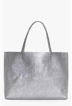 Cerys Metallic Oversized Shopper Holdall