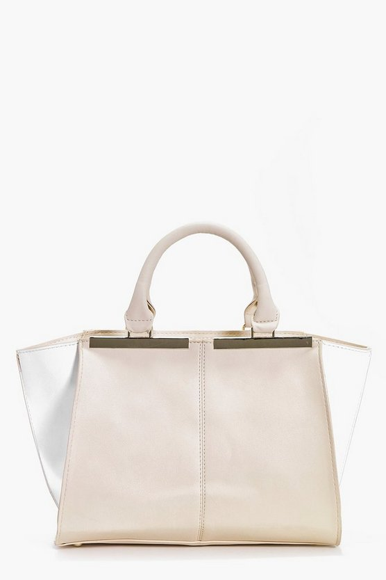Tabitha Colour Block Metal Detail Day Bag