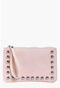 Vanessa Stud Edge Handstrap Clutch Bag