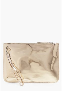 Nina Holographic Handstrap Clutch Bag