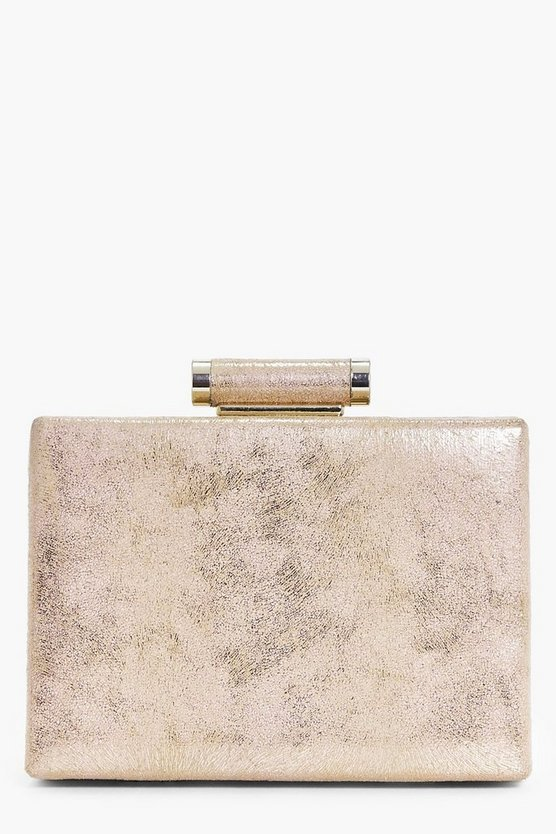 Betsy Shimmer Box Clutch Bag