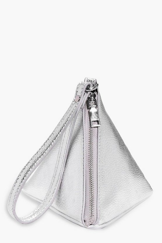 Lottie Metallic Pyramid Handstrap Clutch Bag
