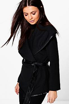 Rebecca Oversized Collar Wrap Jacket