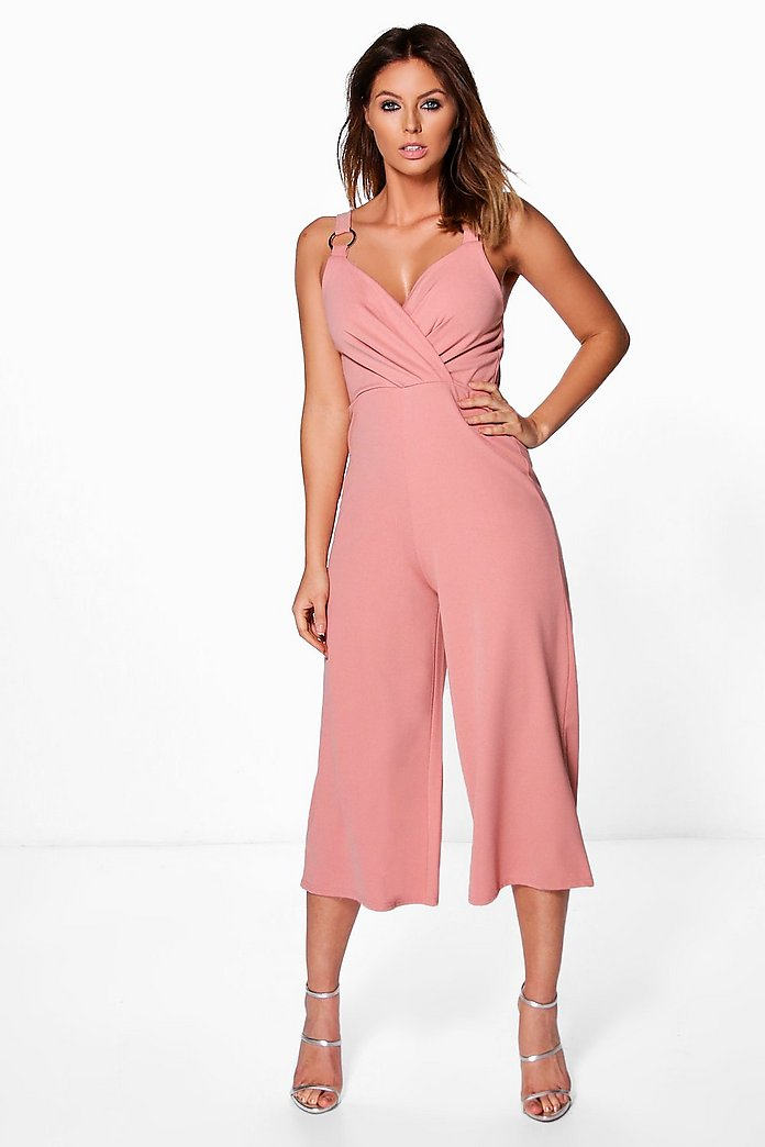 Beth Ring Detail Culotte Jumpsuit