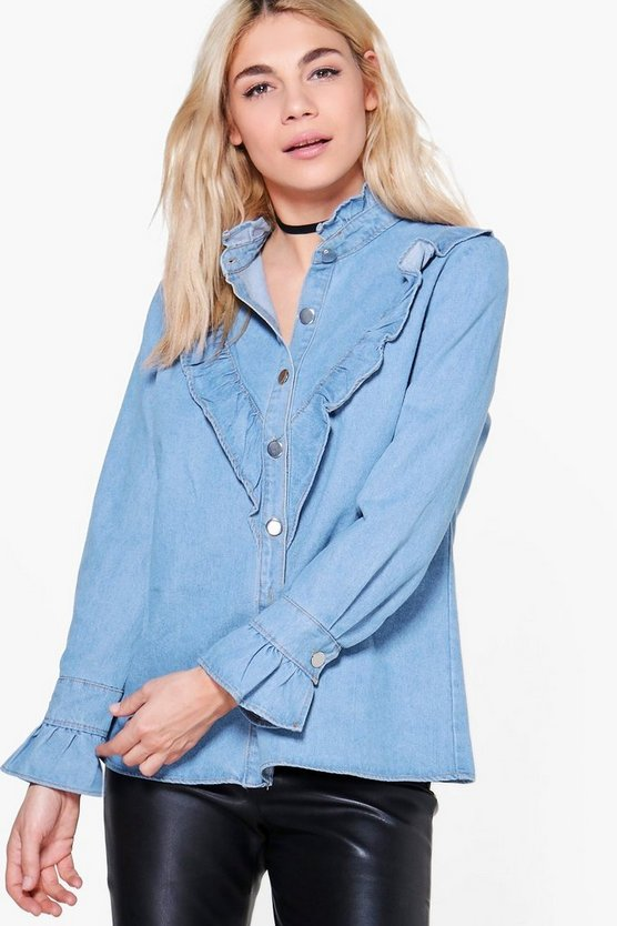 Emily Frill Detail Denim Shirt