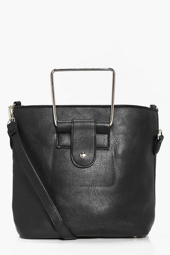 Isobel Metal Handle Structured Duffle Bag