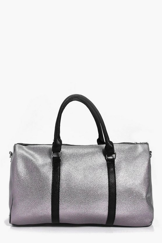 Keira Metallic Contrast Weekend Gym Bag
