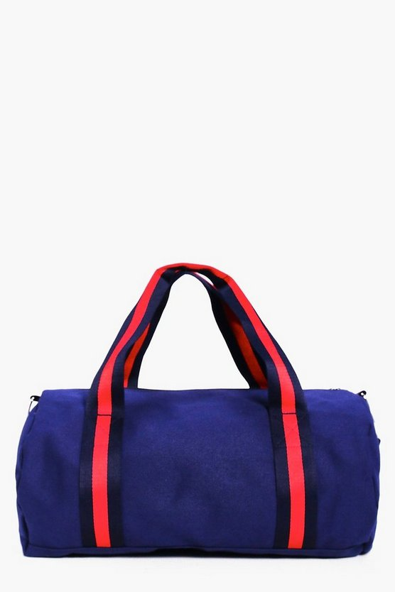 Lauren Contrast Webbing Sports Barrel Bag