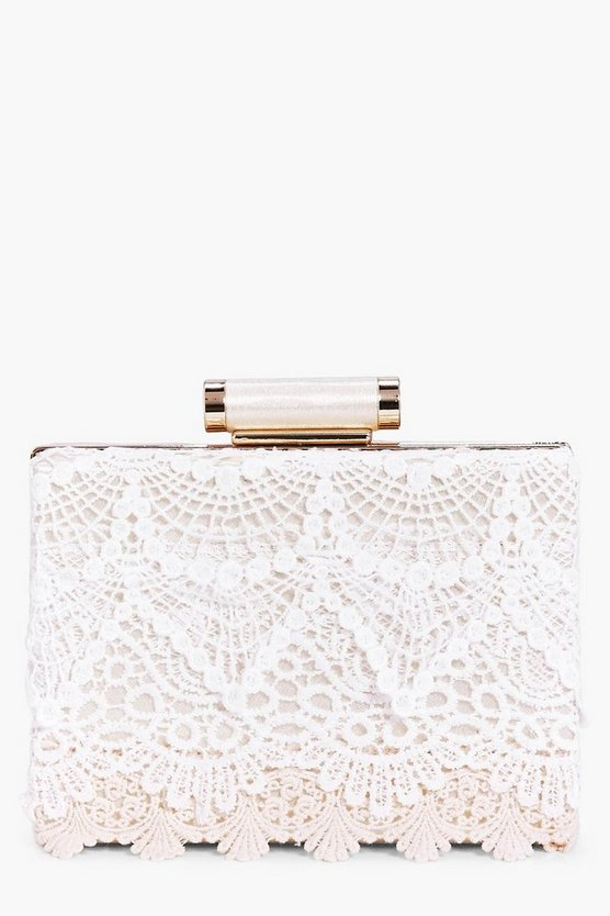 Tilly Crochet Lace Box Clutch Bag