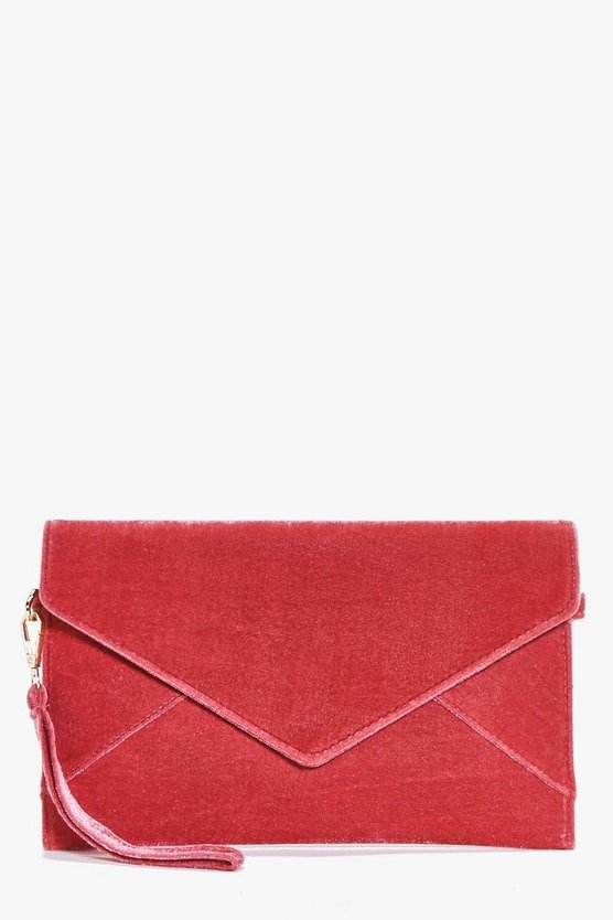 Lydia Velvet Envelope Clutch Bag